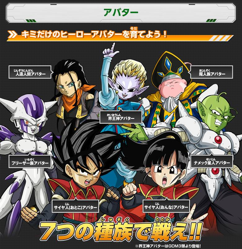 Nuevos avatars de Dragon Ball Heroes